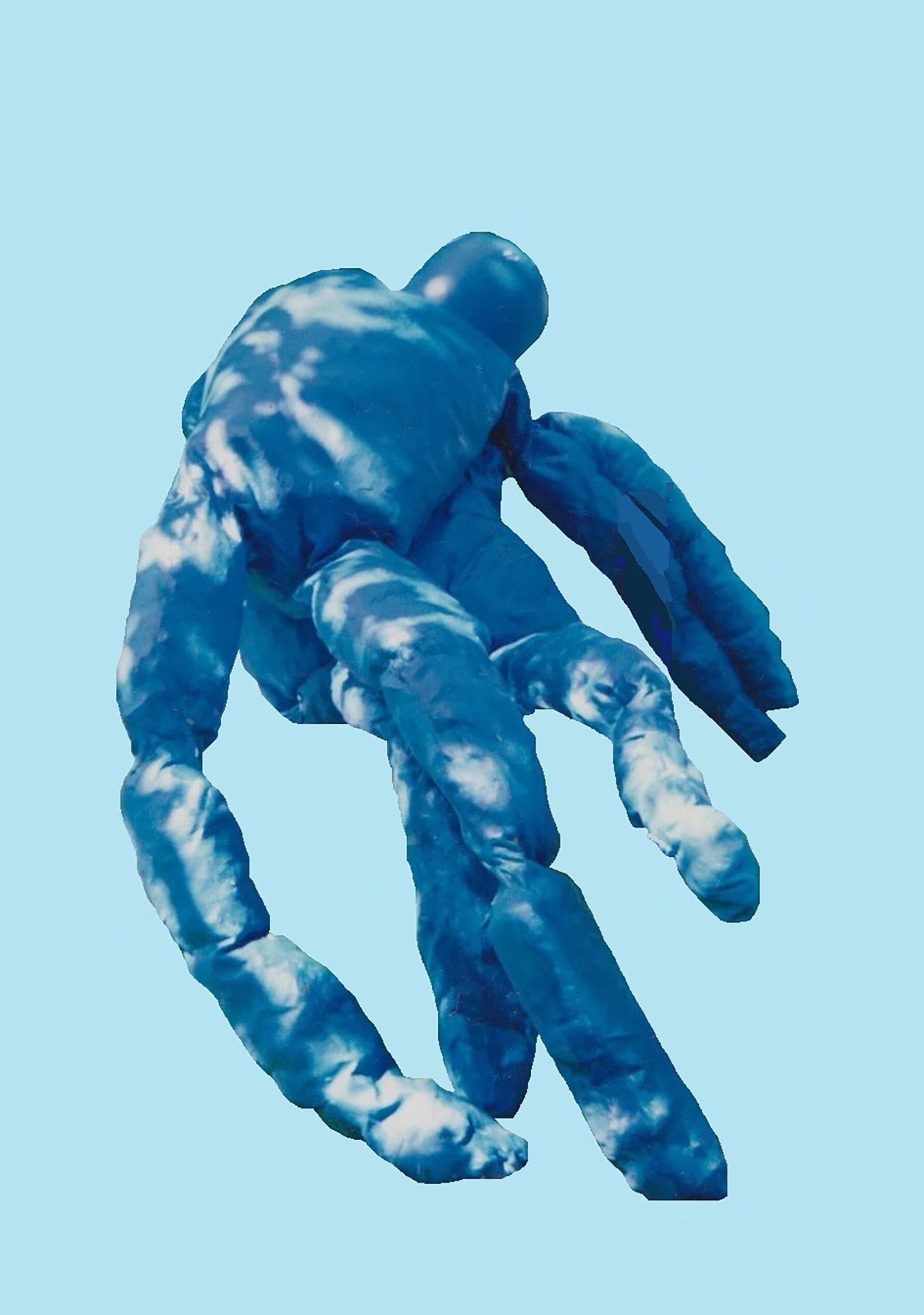 Alexandra Holownia Ulisses -sculpture serie-cotton-acrilic, fabrics-160x70x40cm