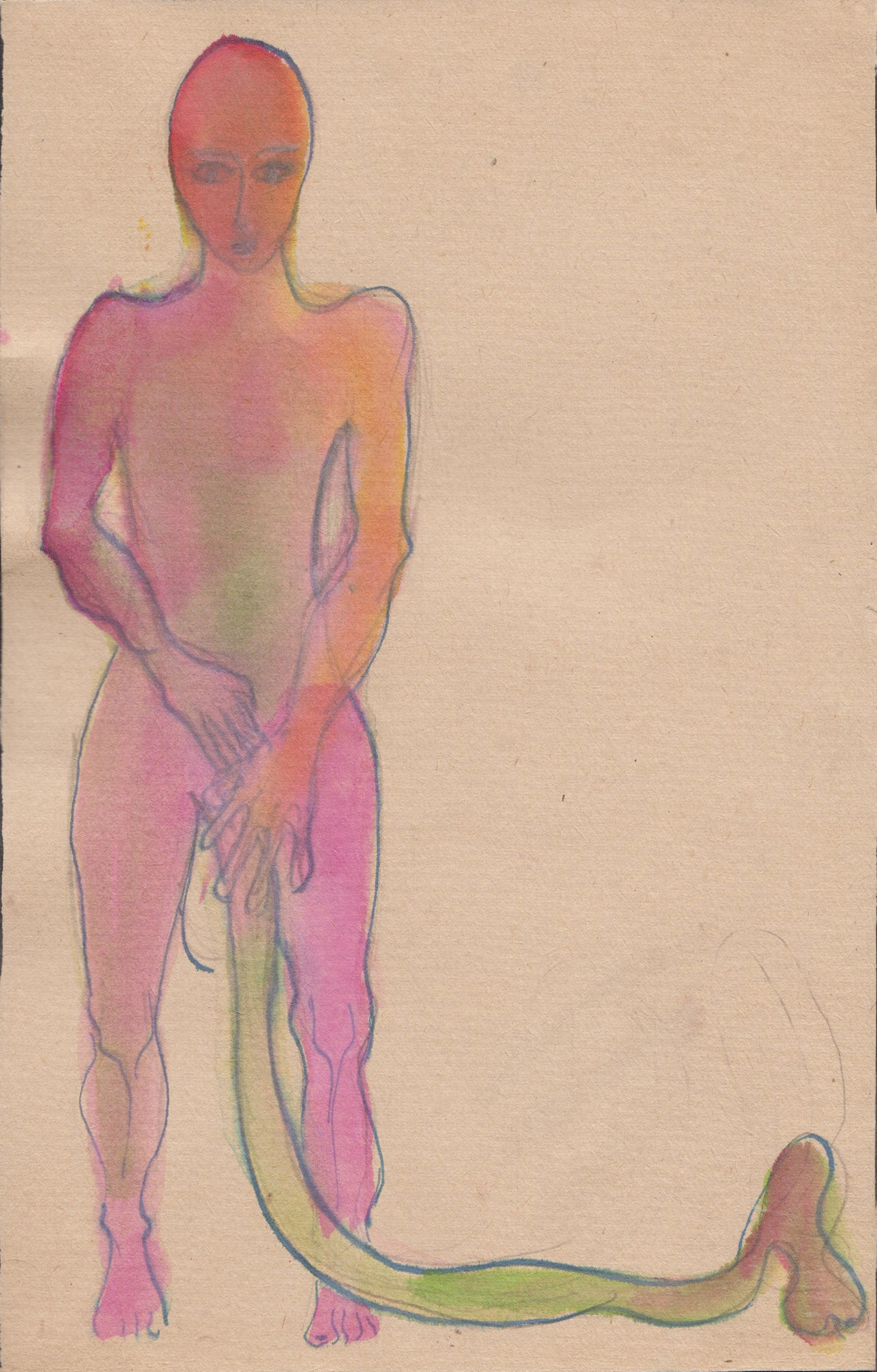 Alexandra Holownia-drawing on paper-Penis Costume-21x29,5cm