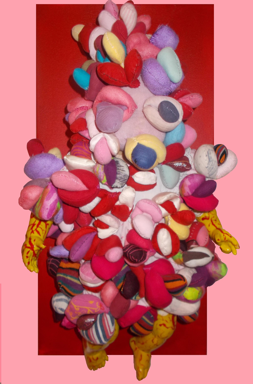 Alexandra Holownia- sculpture--Doll Baby- acrylic-canvas-fabrics-obect-30x60x15cm-2017-Berlin
